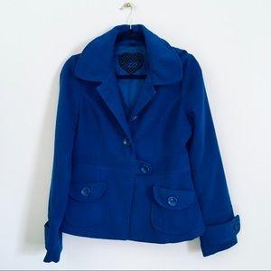 Jack by BB Dakota blue pea coat with hood medium